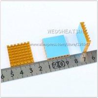ball bearing transfer - x25x5mm Aluminum Radiator Heatsink Cooler With Blue Thermal Adhesive Heat Transfer Pad Double side tape