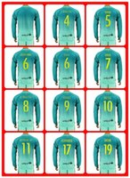 barcelona away uniform - Hot Sell Uniforms Kits soccer Jersey Suarez Messi Neymar JR Barcelona Digne Arda RD away Green Long Sleeve Jerseys