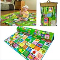 Wholesale Large Size Baby Climbing Play Mats Portable Beach Mats Folded Cartoon Design Crawling Mat Picnic Mats Outdoor Waterproof Picnic Mat