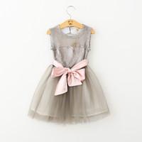 bb belts - Girls Princess Dress Summer Lace Tutu Cake Dress Korean Fashion Party Dress for Kids Clothing with Bow Belt BB