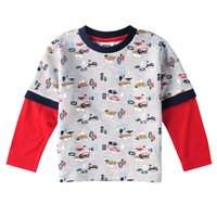 Wholesale 2016 New Boy s T shirt Cotton Fashion Handsome Long Sleeve High Quality Cheap Price A2291