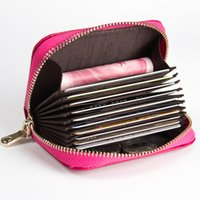 Wholesale Hot Sale pu Leather Unisex Card Holder Wallets High Quality Female Credit Card Holders Women Card holder Purse