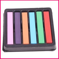 best soft pastels - 6 Colors To Choose Non toxic Temporary DIY Hair Chalk Dye Soft Pastels Salon Kit Best Gift For Fashion Unisex