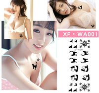 Wholesale Tattoo stickers styles black temporary tattoos body art beauty accessories set sheet