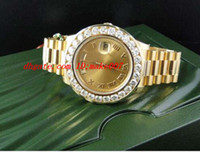 Wholesale Luxury Wristwatch Amazing Mens Day Date II k MM Presidant Yellow Gold Diamond Watch Automatic Mens Watch Men s Watches Top Quality
