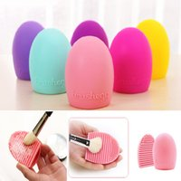 Wholesale DHL Cleaning Glove Makeup Washing Brush Scrubber Board Cosmetic Clean Tool Brush Egg Makeup Beauty Sponger Applicators Brush color SZ B03