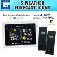 Wholesale WS US_2S Sensor Wireless Weather Station with LED Backlight with Moonphase
