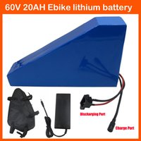 Wholesale High Power V W Triangle battery V AH Lithium battery V Electric Bike battery with Free bag A BMS A Charger