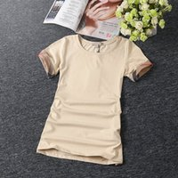 Wholesale New Women s Cotton T Shirts Famous Brand Ladies Fashion Summer Tee Shirts Casual Classic T Shirt Cheap Clothes tee women