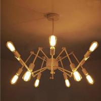 atomic pendant - Modern Brass Mid Century Sputnik atomic chandelier starburst light Fixture Loft American Style Spider Chandelier lights