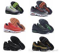 al por mayor calzado deportivo de color naranja-Zapatos corrientes de descuento del amortiguador de aire Max95 Hombres anaranjado retro Maxes 95 OG Deporte Airmaxes 95s Zapatillas Deportivas Corta Botas zapatillas de deporte