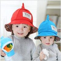 baby headgear protection - 2016 new baby children sun hat kids bucket hats wide brim cap headgear unisex baby bucket hat Wizard hat colors B532