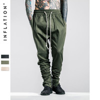 Wholesale INFLATION Men Military Side Zipped Pants Loose Camo Joggers Skinny Camouflage Pants Hip Hop Style Mens Camouflage Pants