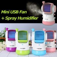 air spray stocking - Mini USB Fan Spray Humidifier USB Aroma Small Turbo Air Conditioning Fan HOA_105