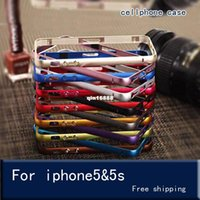 Wholesale Glass on the for iPhone s Case Aluminium Metal Bumper Frame Case Cover for iPhone S Ultra Thin Slim case for iphone s cover