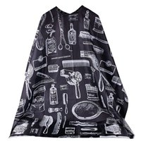 Wholesale 2016 Pro Salon Hairdressing Hairdresser Hair Cutting Gown Barber Cape Cloth Black