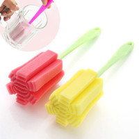 Wholesale Simple and durable cup brush Bottle brush Sponge brush clean cup The kitchen cleaning brush