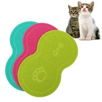 Wholesale 1pcs Cute PVC Dog Puppy Cat Feeding Mat Pad Bed Dish Bowl Food Water Feed Placemat Wipe Clean Pet Supplies