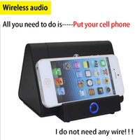 audio speaker technology - 2016 New technology Phone resonance induction Wireless audio Portable Speaker Mini stereo Suitable for iphone samsung other android phone