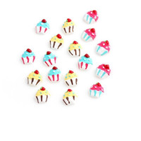 cupcake charm - 20pcs Ice Cream Charms DIY Resin Cupcake Charms for Floating Locket