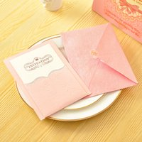 Wholesale Elegant Invitation Cards Pearl Paper Simple Birthday Wedding Party Business Invitations with Envelope