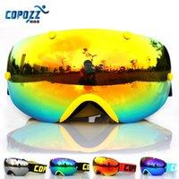 Wholesale COPOZZ brand ski goggles double lens anti fog spherical professional ski glasses unisex multicolor snowboard goggles GOG