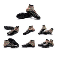 Wholesale new FG Soccer Shoes Mens Soccer Cleats Cheap Good Quality High Ankle Soccer Boots Shoes