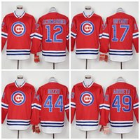 Wholesale Chicago Cubs Baseball Jerseys Kyle Schwarber Kris Bryant Anthony Rizzo Jake Arrieta long sleeve Stitched Jersey