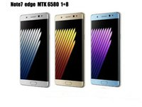 Wholesale Goophone Smartphone Note Edge MTK6580 inch Note7 edge Quad Core G Ram G Rom android unclocked smart cell phones