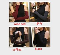 Wholesale 100Pairs New Winter Women Warm Knitted Long Gloves Half Finger Gloves Hand Wrist Fingerless Gloves Warm Cuff Arm Sleeves