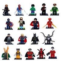 Wholesale 18pcs Marvel Super Heroes Avengers Minifigures Iron Man Batman Building Blocks Sets Model Bricks Toys Bricks Blocks