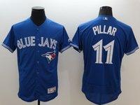 Wholesale MLB Men MLB Toronto Blue Jays Jerseys Kevin Pillar Blue Baseball Jersey Mixr order