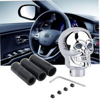 Wholesale okmall Universal Skull Head Car Truck Manual Stick Gear Shift Knob Lever Shifter yl4 Color Silver