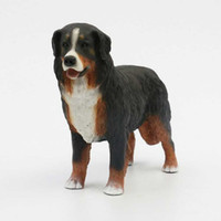 bernese mountain dogs - Bernese Mountain Simulation Dog Figurine Crafts Artificial Animal Ornament Decoration Figurine Crafts with Resin for Garden Decoration