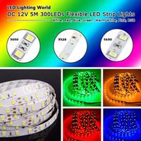 Wholesale 5M RGB LED Non Waterproof SMD Flexible Light Strip DC12V key Remote