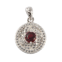 asian reviews - Copper Rhodium Plated Charm Pendants Red Cubic Zirconia Noble Generous MN3101 Rave reviews Explosion models Favourite Treasurer recommended