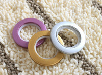 Wholesale Curtain Accessories Nano Mute Curtain Rings Roman Grommets Eyelet Rings Hole digging Circle Slide Rings