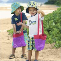 Wholesale 2015 kids Beach bags waterproof storage bag baby beach mesh bag Beach Toys organizer Clothes Towel Bags baby toy collection bag BBA3372