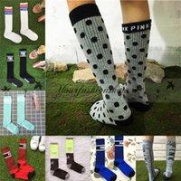 Wholesale Fedex DHL Free Fashion Women Love VS Pink Sports Socks basketball Cheerleaders Stockings Victoria High Knee Stockings Leg Warmers Z496
