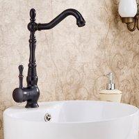 best bathroom sinks - american standard Oil rubbed Bronze Finish One Hole Single Handle Rotatable Best Bathroom Sink Faucet