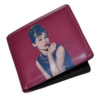 audrey hepburn cards - 2016 Fashionable Audrey Hepburn Bifold Unisex Short Wallet Card Holder Bag Have Stock In UK