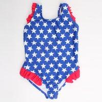 Wholesale 2 Years Suitable Top Quality Baby s Swimwear Cute Star Printing Macrame Kids Swimwear Children s One Piece Swimwear YC3044