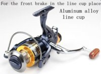 bass fishing reel - Double brake system front and back SW5000 BB Bass Carp metal Spinning Fishing Reel Gear Wheel Coil