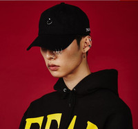 baseball hat pins - 2016 Gd unisex solid Ring Safety Pin curved hats baseball cap men women snapback caps sport