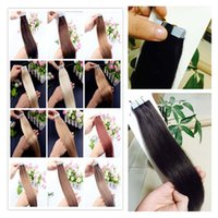Cheap 7A Top quality 100g=50pcs 2g pcs 16 18 20 22 24 inch Glue Skin Weft PU Tape in Human Hair Extensions INDIAN REMY huge stock