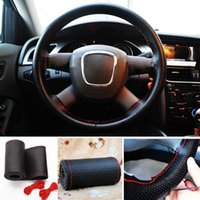 Wholesale Brand New Universal Anti Slip Car Truck Leather Steering Wheel Cover PC FG15345
