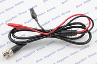 Wholesale Good Quality Straight Black Red m BNC Plug to Dual Alligator Test Clip Oscilloscope Probe Coaxial Cable