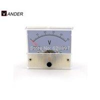 analog volt meter - Hot Sale DC V Voltmeter Ammeter Class Voltmeter Analog Volt Panel Meter White Electrical Instruments