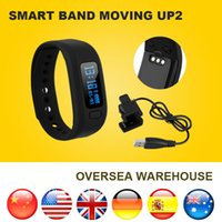Wholesale Excelvan Moving up2 Fitness Tracker Bluetooth Smartband Sport Bracelet Smart Band Wristband Pedometer For iPhone IOS Android