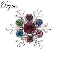 Wholesale Hot Selling Pryme DIY Jewelry NOOSA Chunk color Snowflake Shaped mm Snap Button Charm Jewelry Accessories fit Bracelets N0102